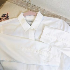 Madewell Classic White Shirt Button Down Shirt XS